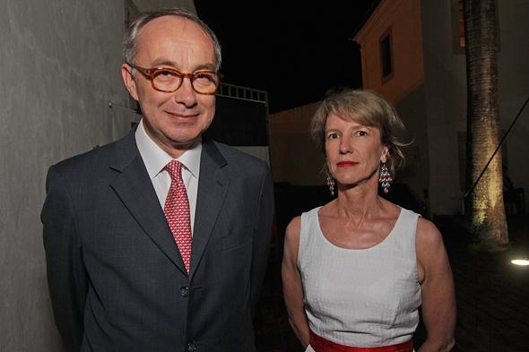 Cônsul da França, Bruno Brisson e esposa, Anne Bruant Brisson. Crédito: Rodrigo Ramos/ Esp. DP