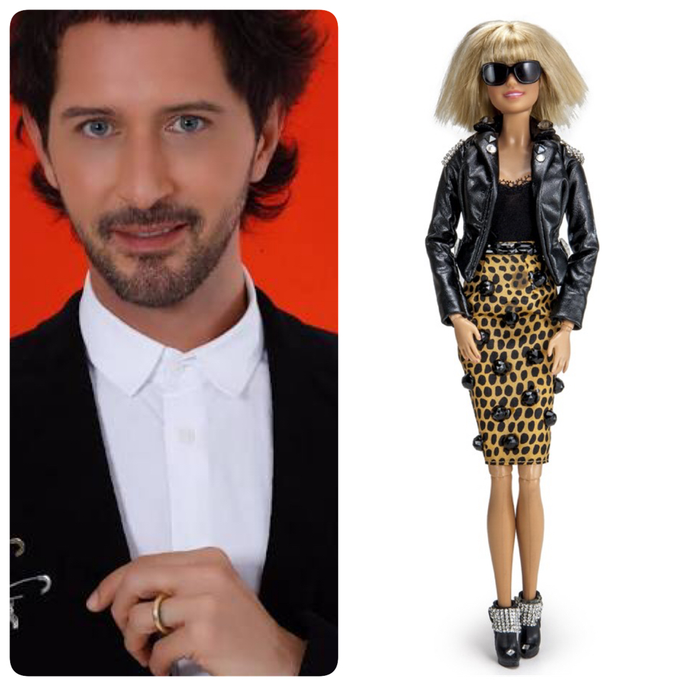 Arlindo Grund customizou uma das bonecas da exposição - Crédito: Divulgação