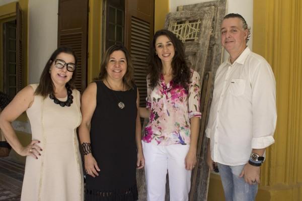 Isabela Coutinho, Carla Cavalcanti, Grazi de Caroli e André Wanderley - Crédito: 4 Comunicação/Divulgação