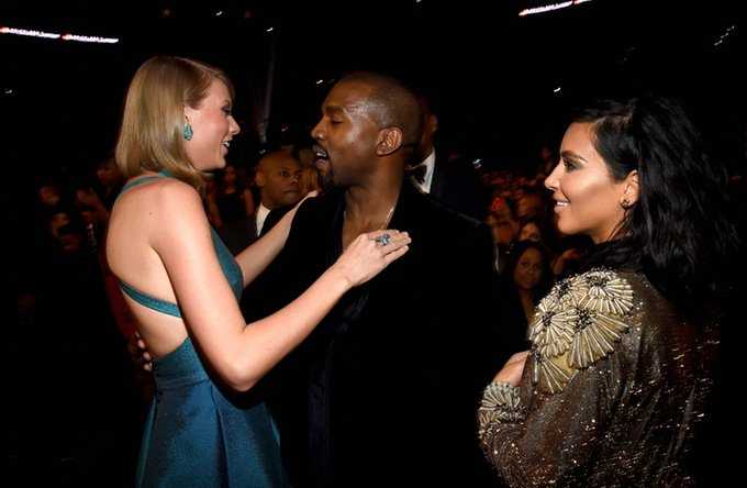 Taylor, Kanye e Kim - Crédito: Reprodução/Twitter