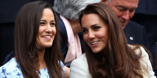 Pippa e Kate Middleton - Crédito: Reprodução/Twitter