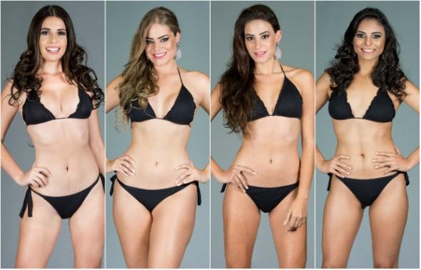 STEFANY BELEGRIS (PAULISTA), SULLYDAIANNNE ALBUQUERQUE (PETROLINA), ANA BEATRIZ FERRAZ (RECIFE) E AMANDA PONTES (RIBEIRÃO)