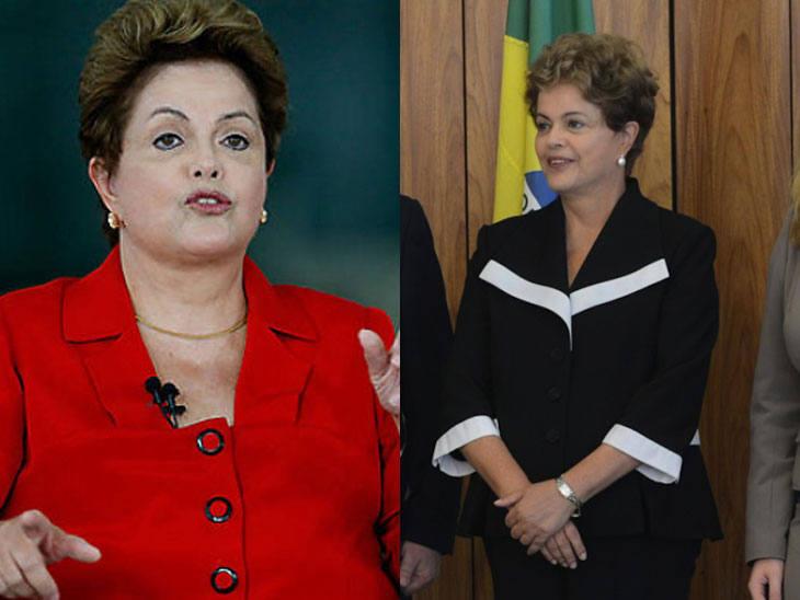 Dilma Rousseff antes e depois do regime/Divulgação