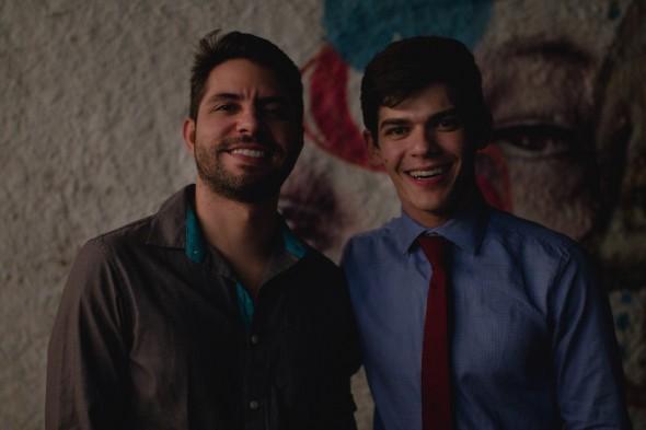 Rodrigo Martiniano e Edgar Souza Cruz. Crédito: Luan Mateus