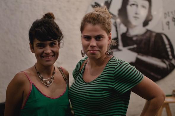 Virginia Correia e Naiara Cândido. Crédito: Luan Mateus