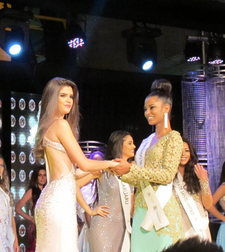 Miss Pernambuco, Talita Martins e a segunda colocada, Geicy Santana