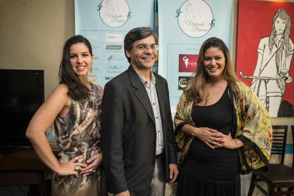 Rhavena Viana,  Júnior Lucena e Rachel Plutarco. Crédito: Oásis Evento / Divulgação