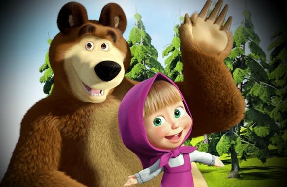 Masha e o Urso é exibido TV Cultura, SBT, Boomerang e Cartoon Network. Crédito: Reprodução internet