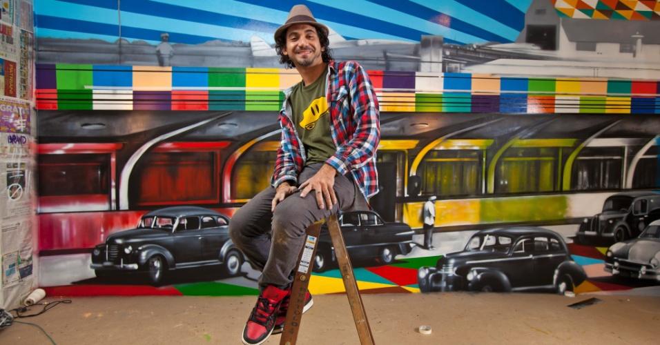 Eduardo Kobra faz exposição em Botafogo, no Rio - Crédito: Divulgação do artista
