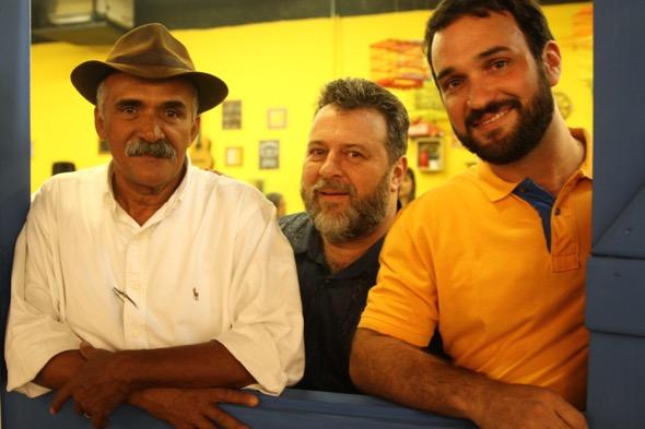 Seu Antônio, Fenelon Moreira e Paulo Belliato. Crédito: Roberto Ramos / DP