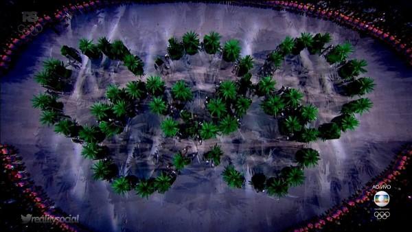 Os anéis Olímpicos eram árvores - Crédito: Reprodução/Twitter