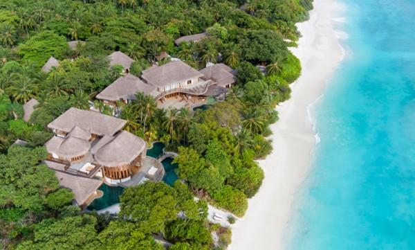 O resort Soneva Fushi - Crédito: Reprodução/soneva.com