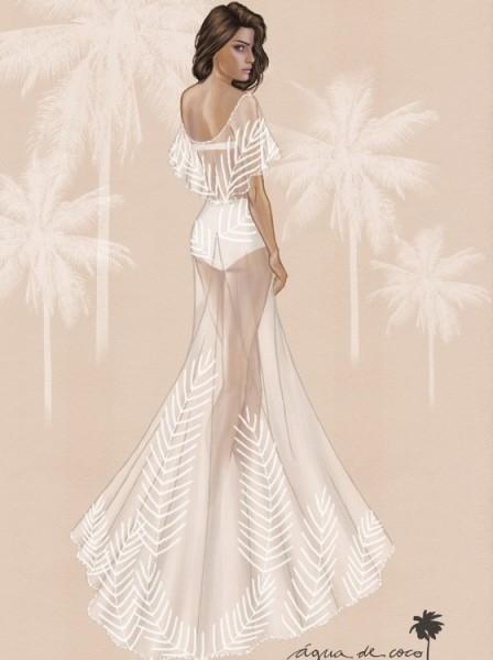 O vestido de Isabeli demorou quatro meses para ficar pronto - Crédito: Divulgação