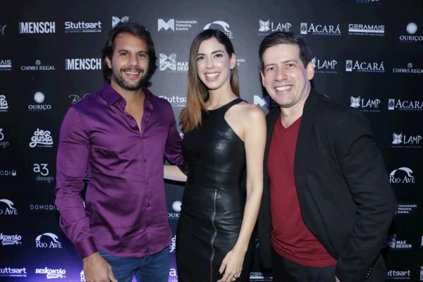Thiago Monteiro, Camila Coutinho e Andre Porto - Crédito: Bruno Maia/Divulgação