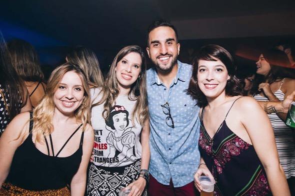 Carol Andrade, Luísa Tavares, Manoel Martins e Carol Pires. Crédito: Lana Pinho / Divulgação