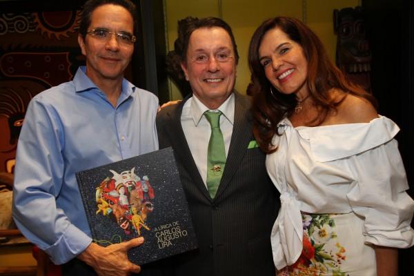 Maurício Rands, Carlos Augusto Lira e Patricia Rands - Crédito: Roberto Ramos/DP