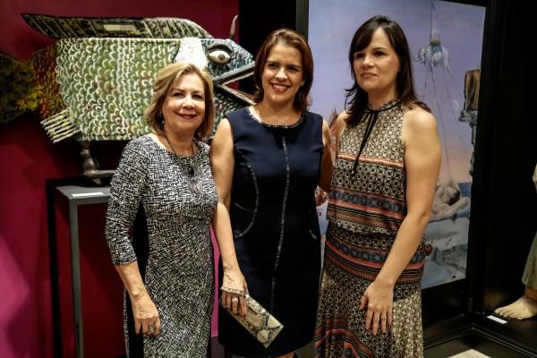 Carmem Peixoto, Cristina Melo e Denielly Halinski - Crédito: Gleyson Ramos/Divulgação