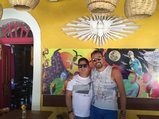 Fernando e Auricelio Romão, sócios à frente do Cacimba em Noronha - Crédito: Thayse Boldrini/DP