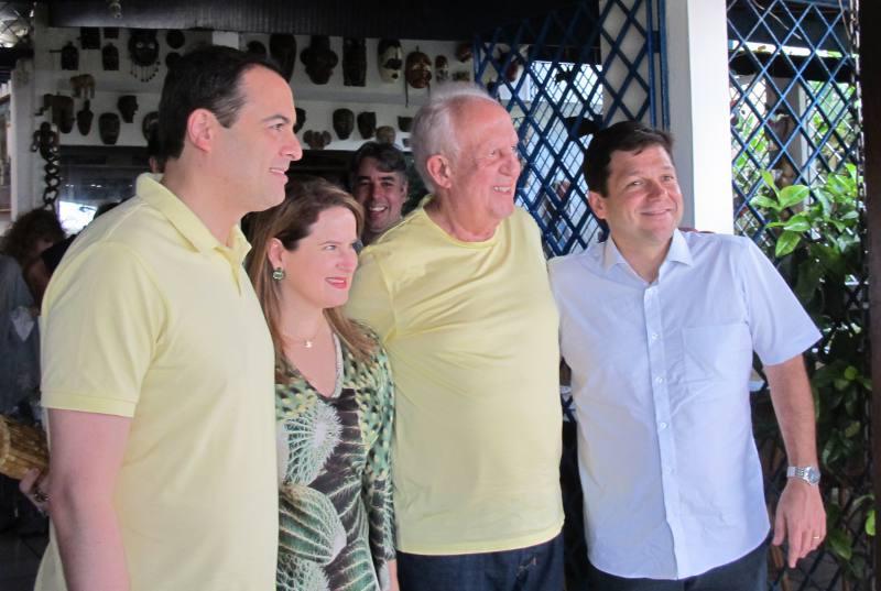 Paulo e Ana Luiza Câmara, Jarbas Vasconcelos e Geraldo Julio