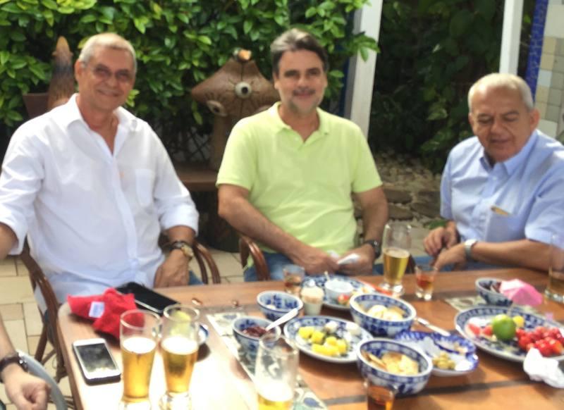 Edson Barbosa, Raul Henry e Álvaro Mendonça