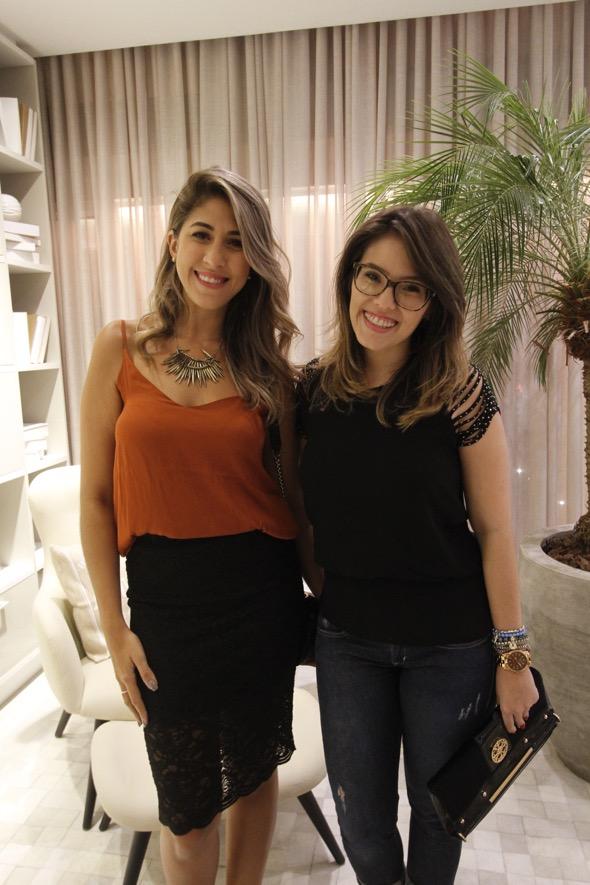 Rafaela Resende e Aline Menezes. Crédito: Ricardo Fernandes / DP