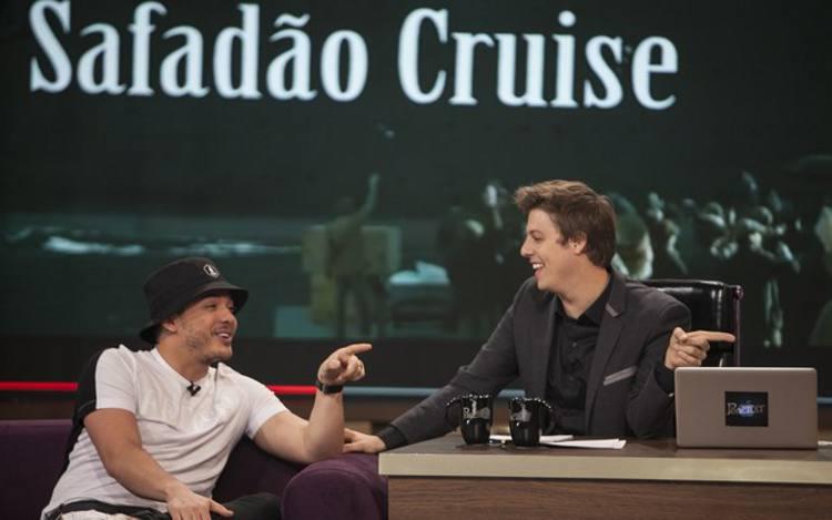 Wsley Safadão e Fábio Porchat/TV Record/Divulgação