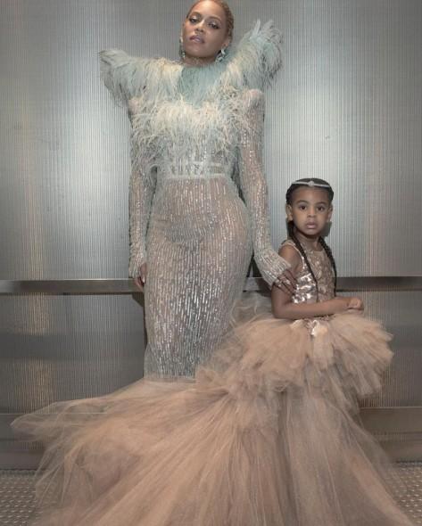 Beyoncé e a filha, Blue Ivy. Crédito: Reprodução/ Instagram