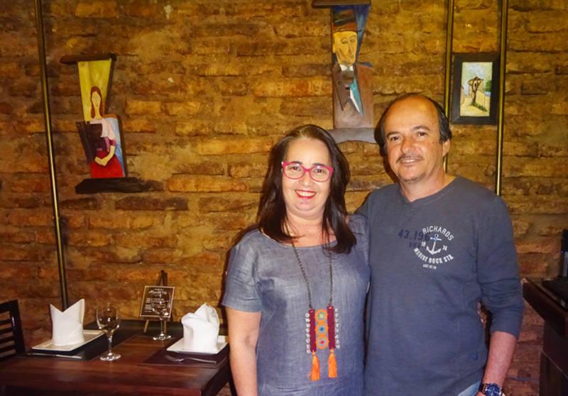 Adriana Alliz e Roberto Vasconcelos, os donos