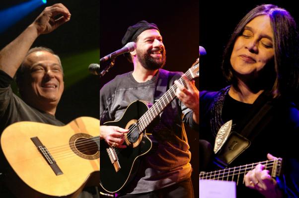 Toquinho, João Bosco e Joyce - Crédito: Divulgação