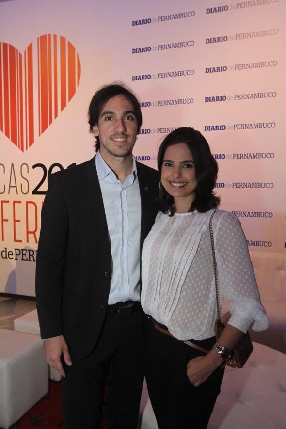Fabrício Navarro e Mariana Morais. Crédito: Nando Chiappetta / DP