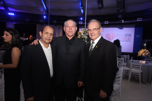 Edivaldo Guilherme, Jordão Cavalcanti e Osmar Basso. Crédito: Nando Chiappetta / DP