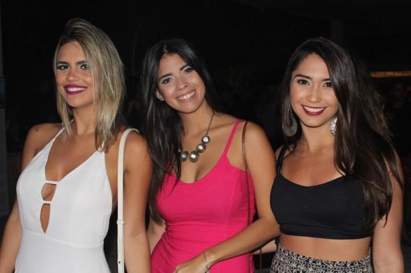 Giselle Bittencourt, Amanda de Menezes e Daniele Laroche. Crédito: Bia Chaves