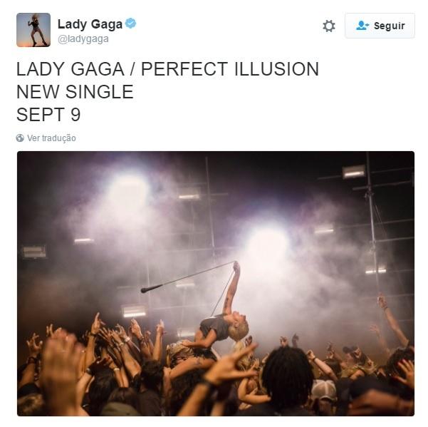 Anúncio foi feito pelo Twitter da cantora - Crédito: Reprodução/Twitter