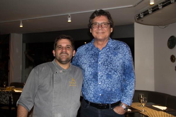 Biba Fernandes e o comodoro Jaime Monteiro Jr - Crédito: Luanna Valentim/Divulgação