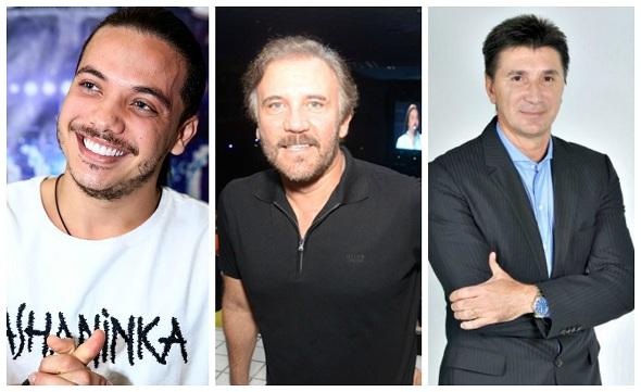 Wesley Safadão, Luís Augusto Nóbrega e Janguiê Diniz - Crédito: Blog João Alberto