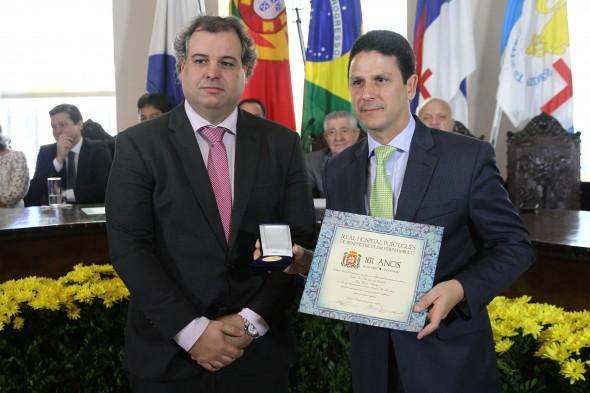 Alberto Ferreira Costa Filho e o Ministro Bruno Araujo. Crédito: Julio Jacobina/DP