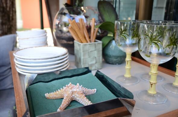 Detalhe da mesa do Bangalô. Credito: Marcela Cintra/Esp.DP - Blog de Joao Alberto