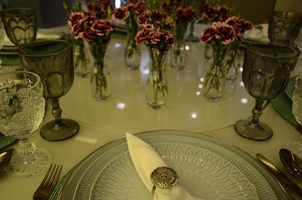 Detalhe da mesa de jantar. Credito: Marcela Cintra/Esp.DP - Blog de Joao Alberto