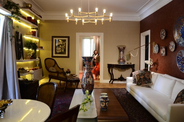 Sala de estar do primeiro andar. Credito: Marcela Cintra/Esp.DP - Blog de Joao Alberto