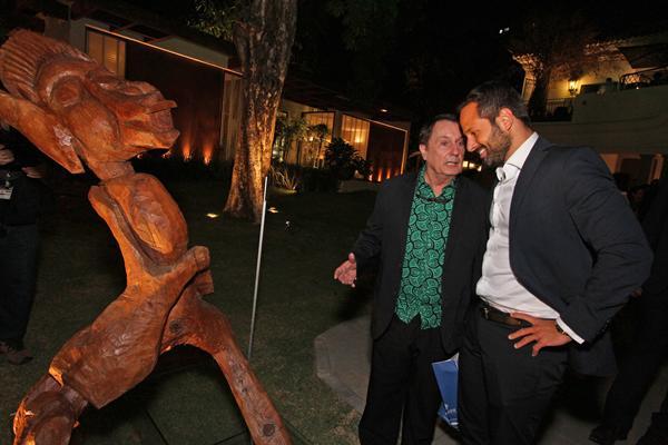 Carlos Augusto Lira mostrou suas obras ao Ministro da Cultura, Marcelo Calero - Crédito: Roberto Ramos/DP