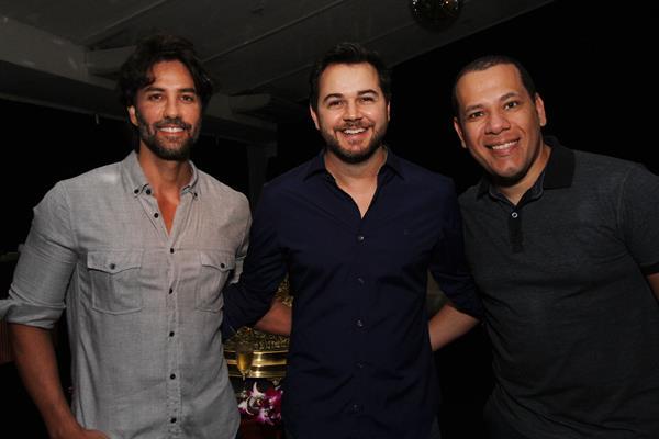 André Carício, Heracliton Diniz e Saulo Barros - Crédito: Roberto Ramos/DP