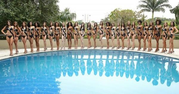 Candidatas do Miss Brasil - Crédito: Reprodução/Twitter