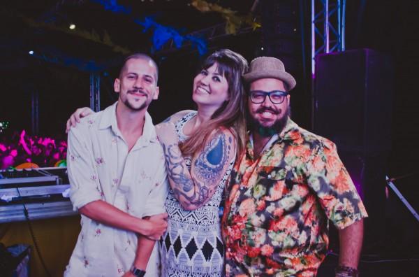 Caio Braz, Allana Marques e VJ Mozart Ramos - Crédito: Thiago Britto/Divulgação