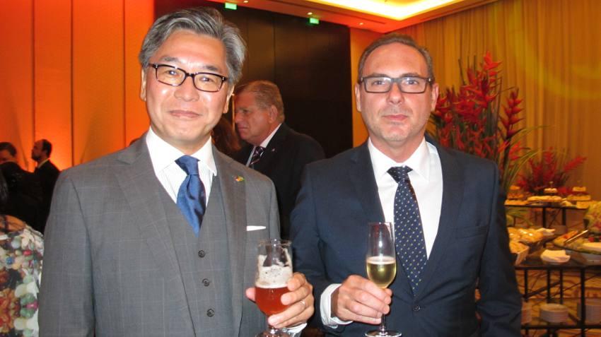 Consules Yassuhiro Mitsu e Marco Ferreira de Melo