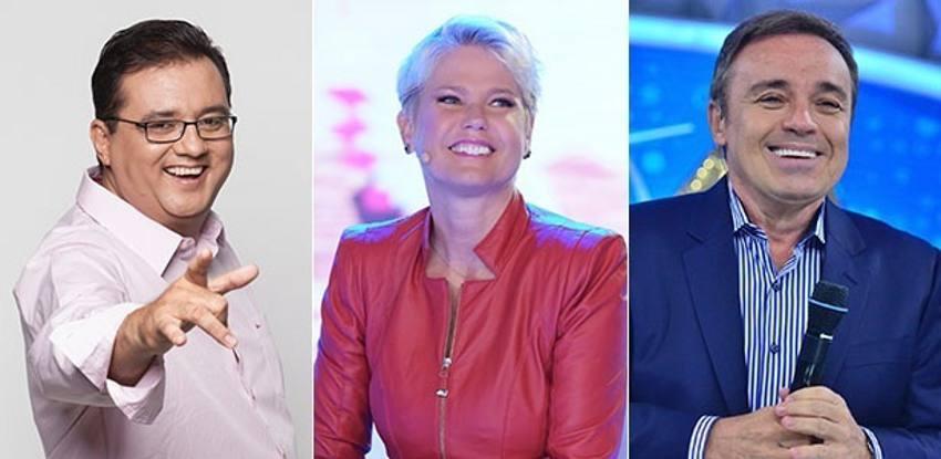 Geraldo Luiz, Xixa e Gugu/TV Record/Divulgação