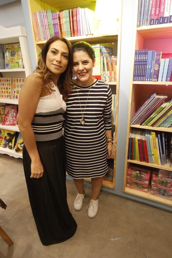 Luana Fonteles e Renata Mahaz. Crédito: Ricardo Fernandes / DP