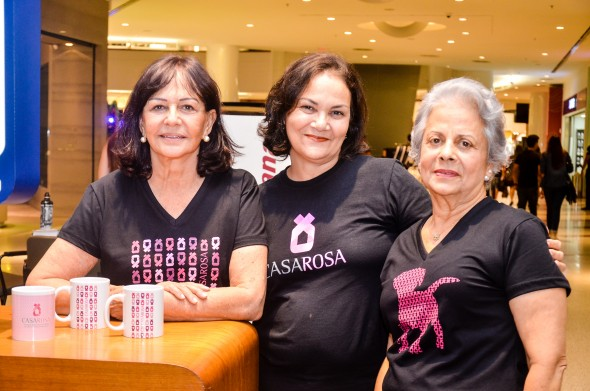Bruna Trajano, Kadja Camilo e Cristina Maranhão. Crédito: divulgação/Elton Camilo