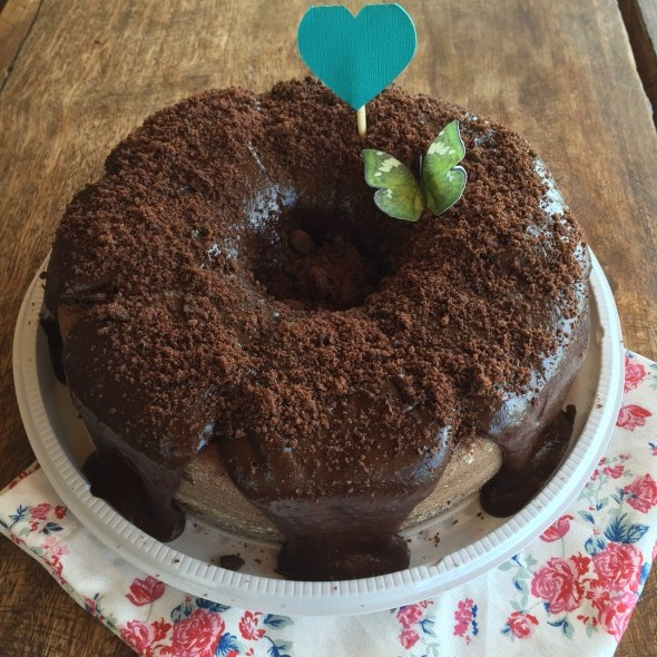 Um dos bolos da Cacau Cake. Crédito: Cacau Cake/ Arquivo Pessoal