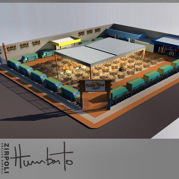 Praia Food Park - Crédito: Reprodução/Facebook