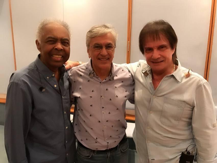 Gilberto Gil, Caetano Veloso e Roberto Carlos/TV Globo/Divulgação